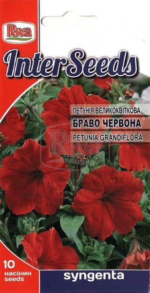 Петунія великоквіткова  Браво Червона