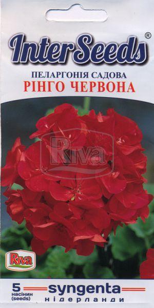 Пеларгонія садова Рінго Червона